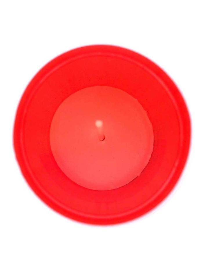 vista cenital de una vela de Sisteria Shop