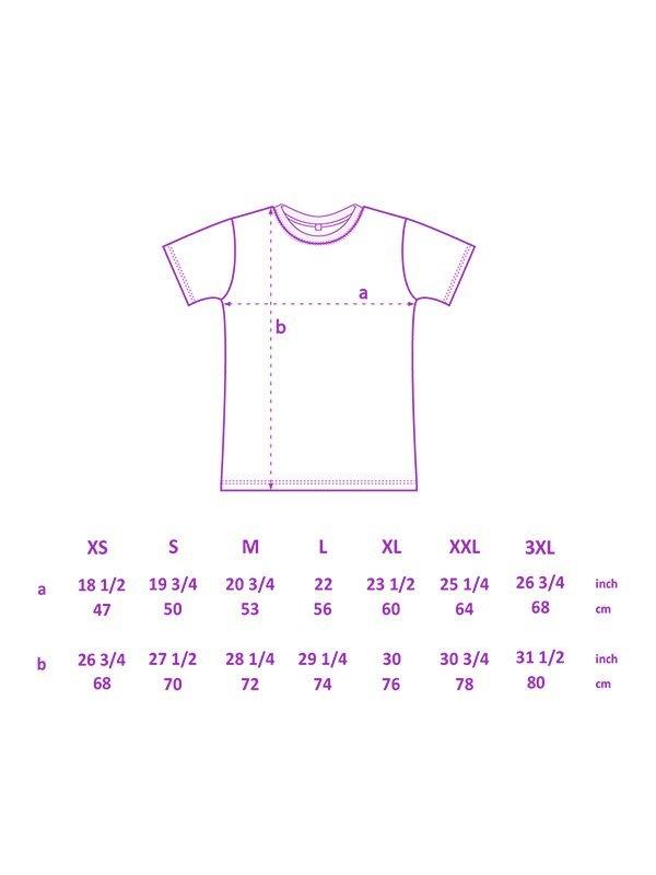 medidas de camiseta de Sisteria Shop