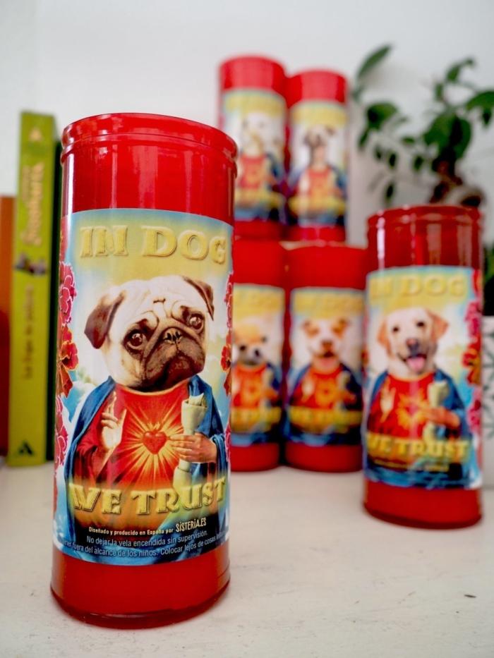 De Sisteria Shop Pack de 6 velas divertidas de perros santos