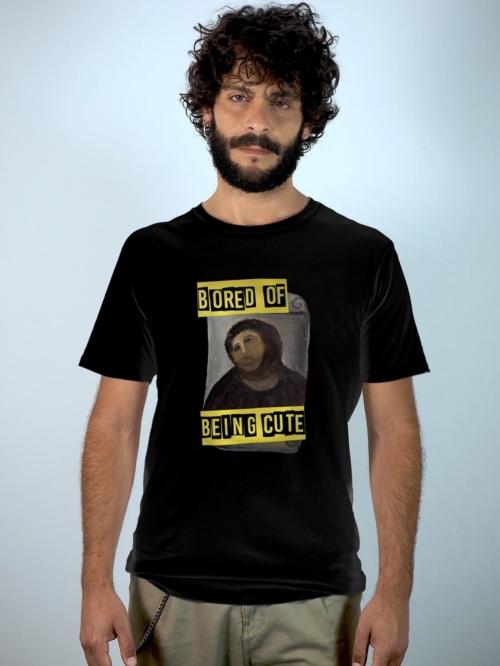 Sisteria Shop Camiseta negra unisex con ecce homo